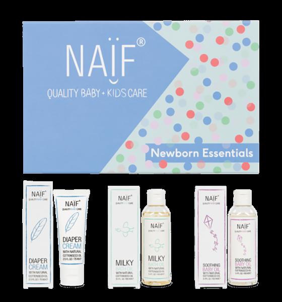 Naïf Gift Box Newborn Essentials Flatlay 717X768